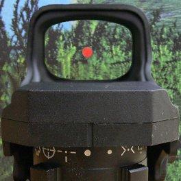 Вид через смотровую линзу коллиматорного прицела