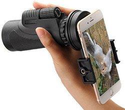 Монокуляр можно подсоединять к камере смартфона