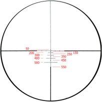 Ballistic 550 (баллистическая прицельная сетка для стрельбы на 550 ярдов)