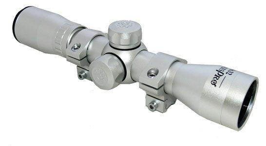 Оптический прицел silver с монтажными кольцами