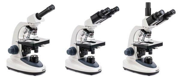 Монокулярный, бинокулярный и тринокулярный микроскопы