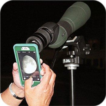 Применение зрительной трубы для фотосъемки поверхности Луны
