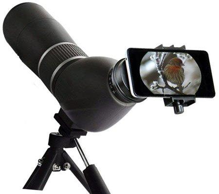 Подзорные трубы чаще, чем другая наблюдательная оптика, используются для диджископинга - цифровой фотосъемки