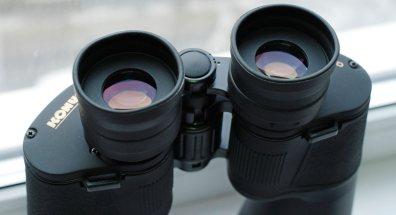 Просветляющее покрытие на окулярных линзах бинокля Konus Giant 15х70