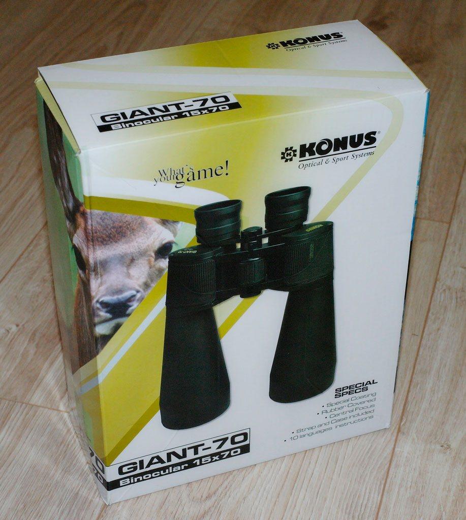 Упаковка бинокля Konus Giant 15х70, фото оленя