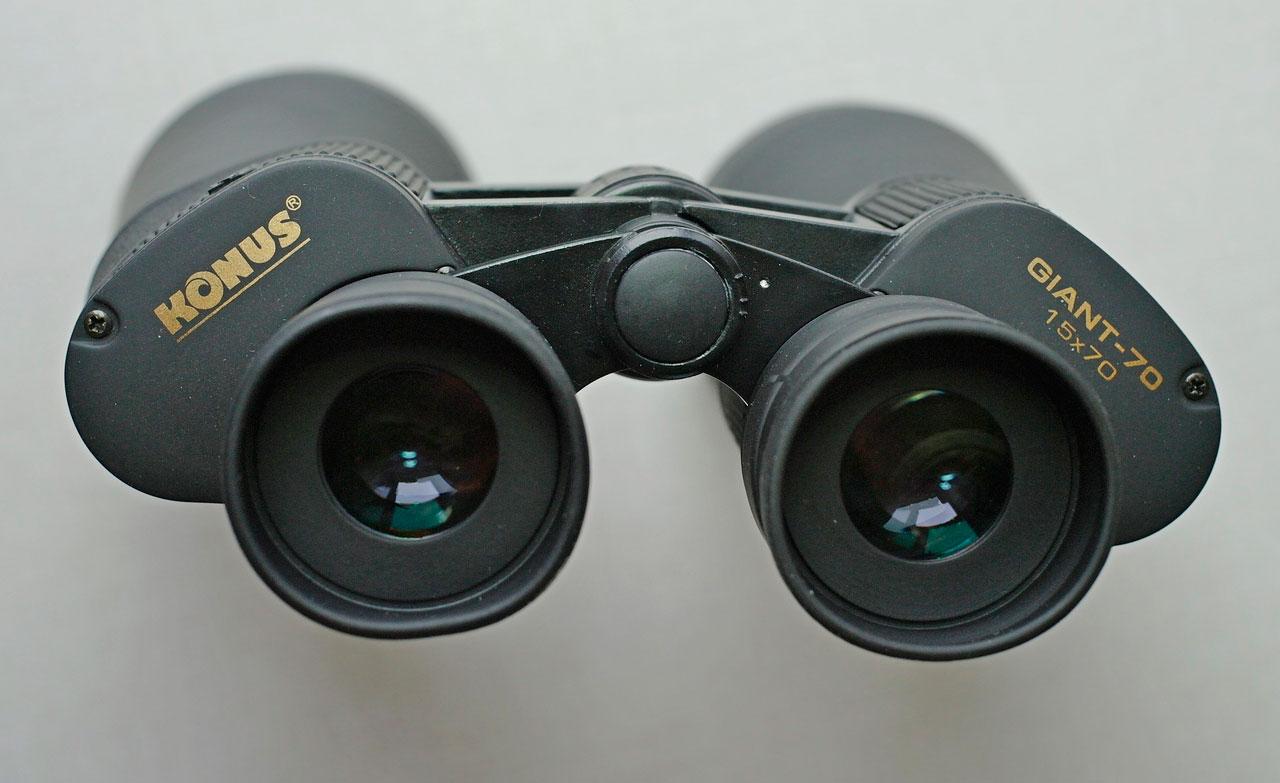 Окуляры с большим выносом выходного зрачка бинокля Konus Giant 15х70