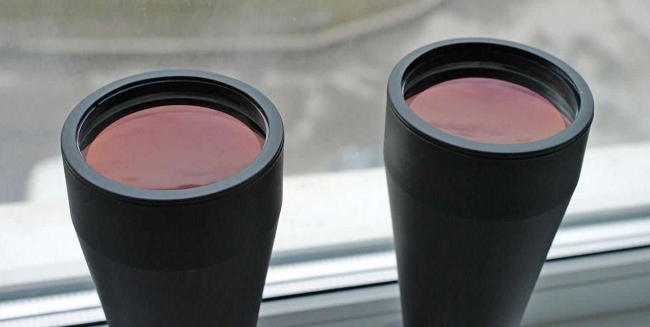 Рубиновое просветление на объективах бинокля Konus Giant 15х70