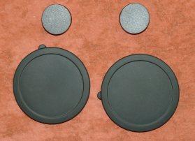 Раздельные крышки на окуляры и объективы бинокля Konus Giant 20х80