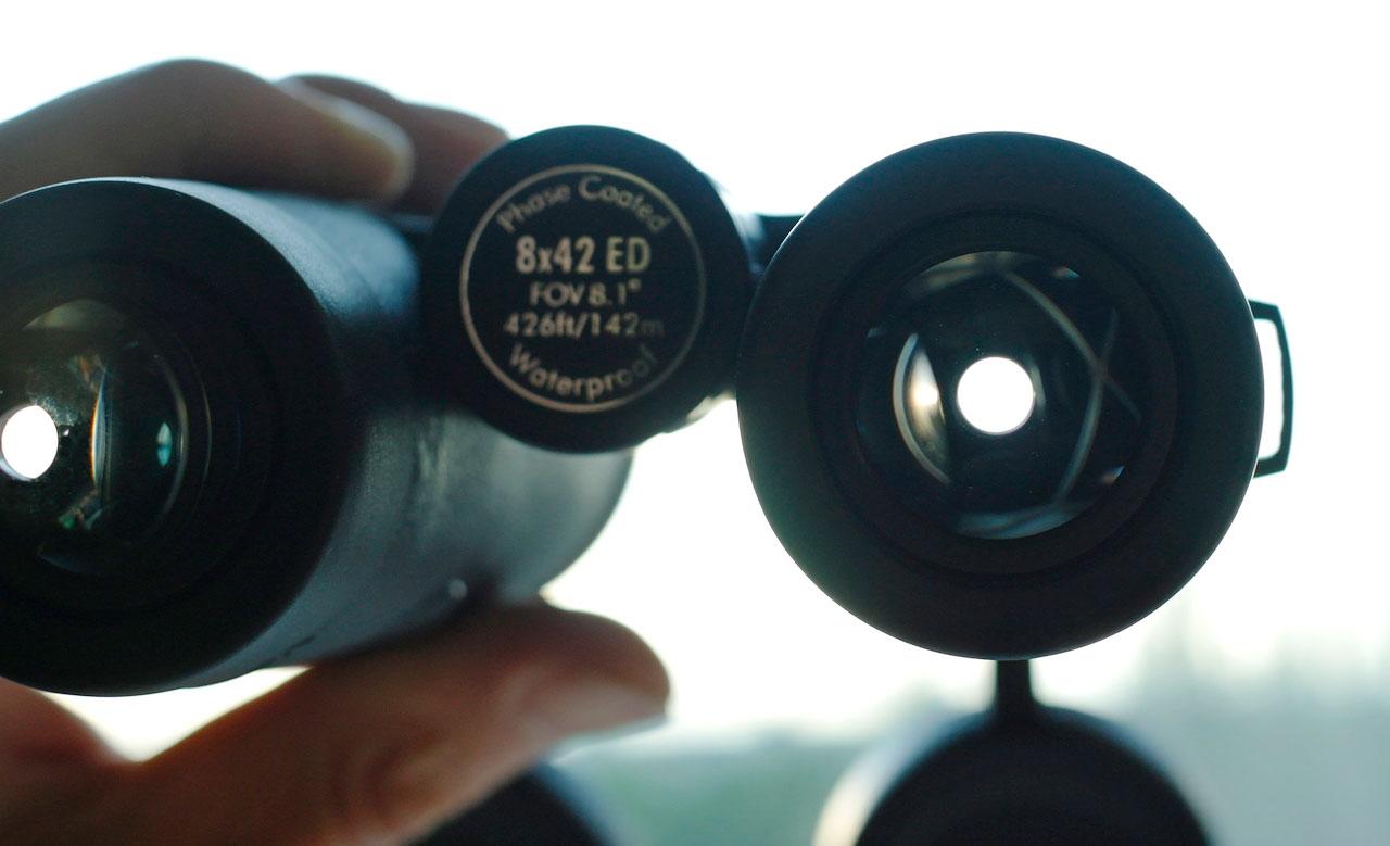 Выходной зрачок бинокля SIGETA Grace ED 8x42 идеально круглой формы