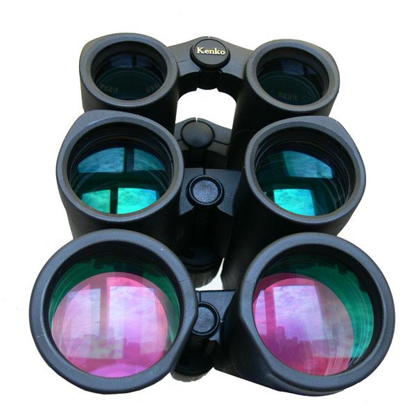 Бинокли KENKO Ultra VIEW 10x50 и 12x50 отличаются от остальных биноклей серии УльтраВью типом просветляющего покрытия