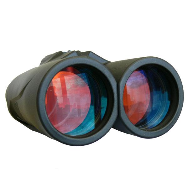 Полное многослойное просветление (FMC) с рубиновым оттенком на объективе бинокля KENKO Ultra VIEW 12x50
