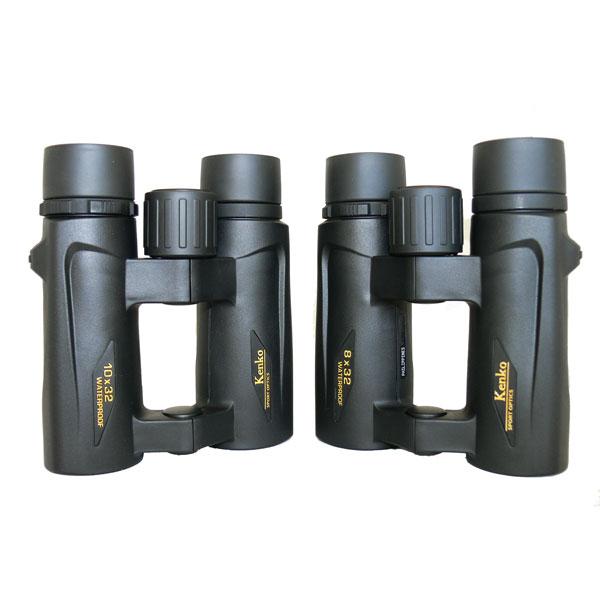 Бинокли KENKO Ultra VIEW 8x32 и 10x32 размерами почти не отличаются