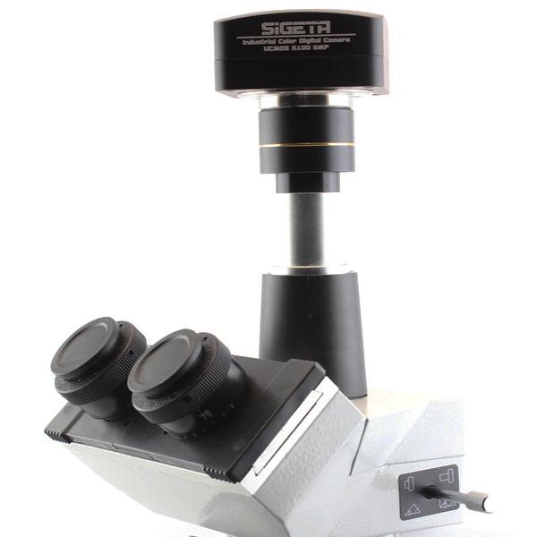 Камера Sigeta UCMOS 5.1 MP установлена в 3-й оптический порт тринокулярного микроскопа MB-303