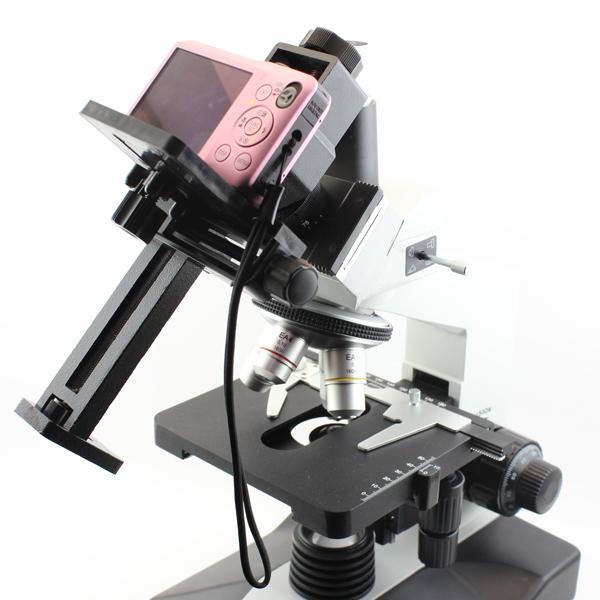 Фотоаппарат CANON 600D подключен к микроскопу Sigeta MB-303 с помощью адаптера