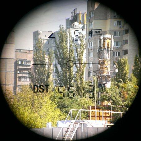 Отображение информации на дисплее дальномера