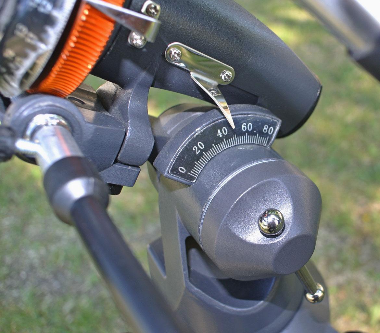 Индикатор широты для установки угла подъема корпуса полярной оси
