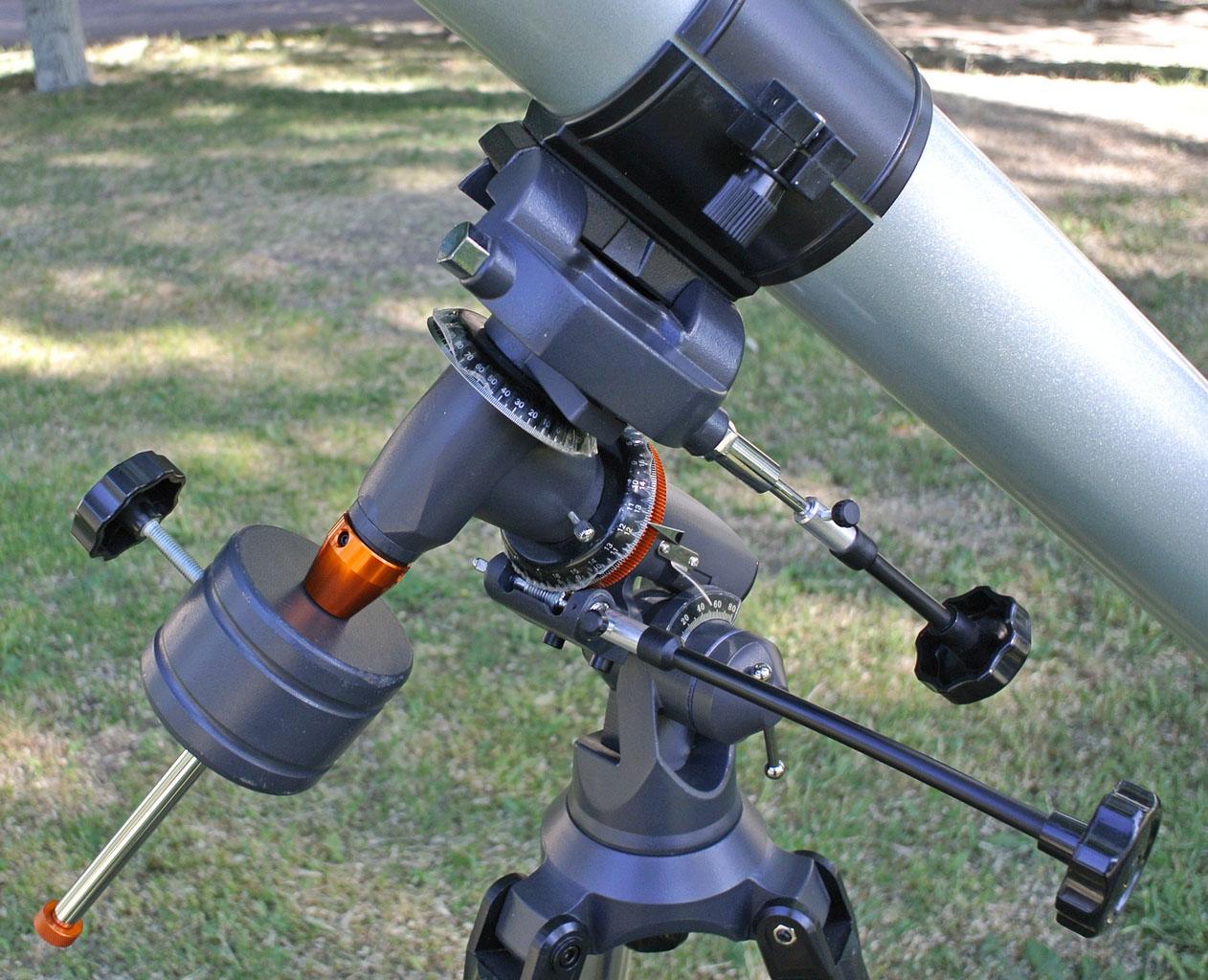 Ось склонения и полярная ось телескопа SIGETA Mensa