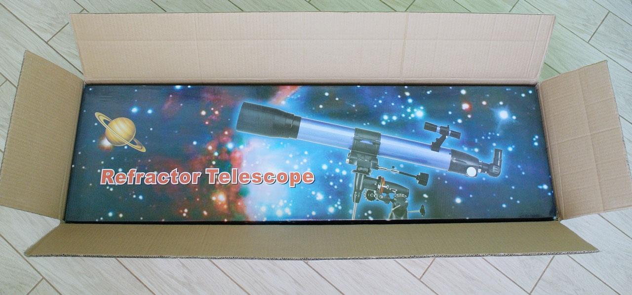 Внутренняя цветная упаковка телескопа SIGETA Mensa