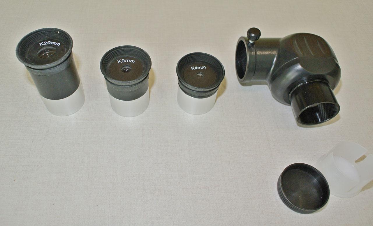 Окуляры из комплекта телескопа SIGETA Mensa
