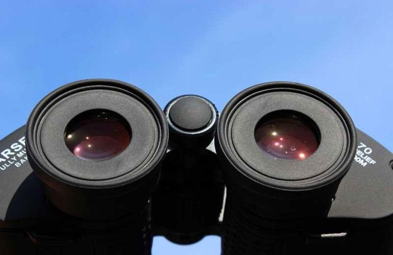 Просветление FMC на окулярных линзах бинокля Arsenal 15х70 Porro
