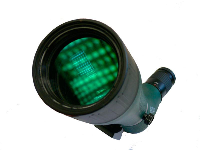 Просветляющее покрытие линзы объектива трубы Konus Konuspot-70