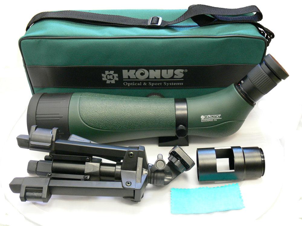 Комплектация зрительной трубы Konus Konuspot-70
