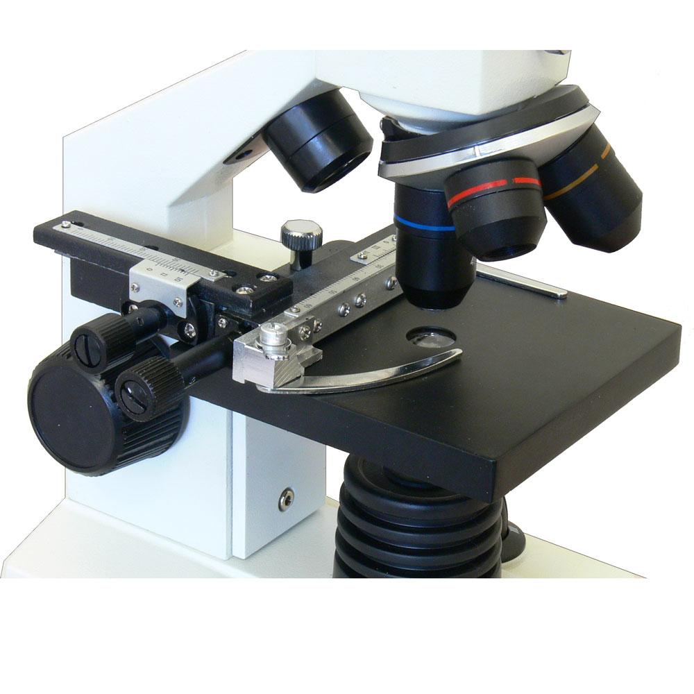Предметный столик с препаратоводителем и координатным нониусом - микроскоп Sigeta MB-111