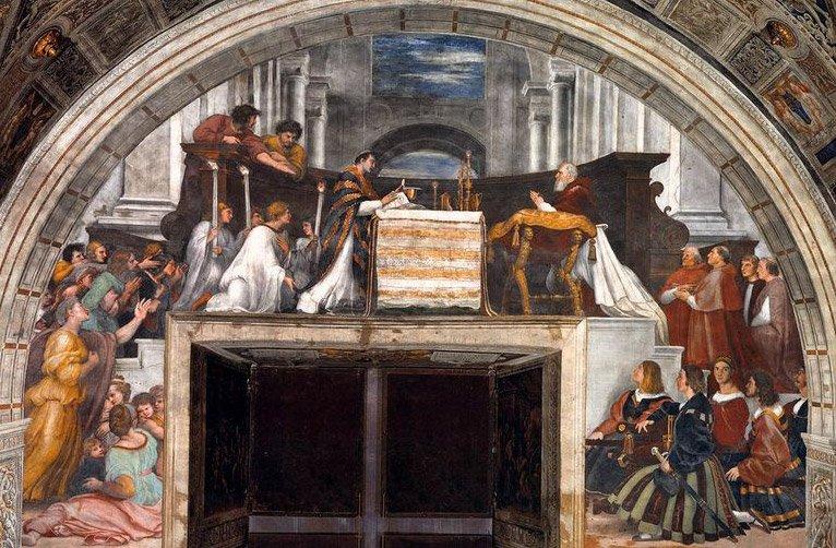Фреска Рафаэля, посвященная чуду в Больсене