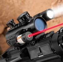 BARSKA 1x30 Multi-Rail Sight with Flashlight & Laser Коллиматорный прицел купить в Киеве
