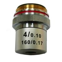 Объектив для микроскопа KONUS 4x (ахроматический)