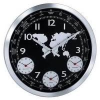 Настенные часы KONUS Terrano с металлическим корпусом (черные)