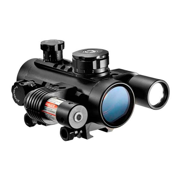 купить Коллиматорный прицел BARSKA 1x30 Multi-Rail Sight with Flashlight & Laser