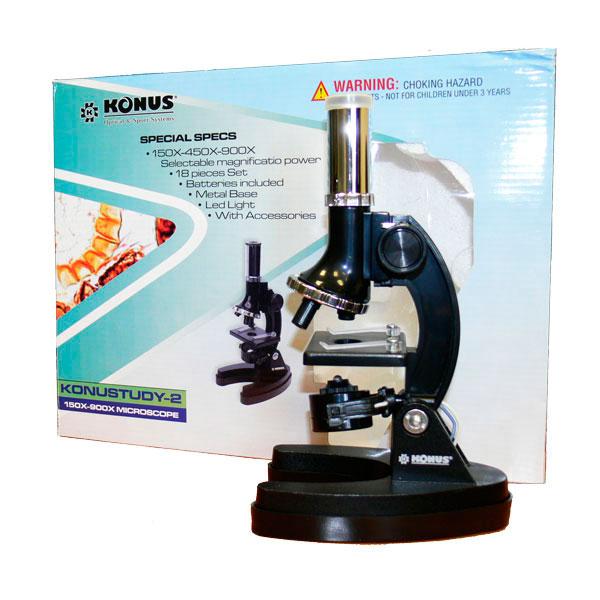 купить Микроскоп KONUS KONUSTUDY-2 (150x, 450x, 900x)