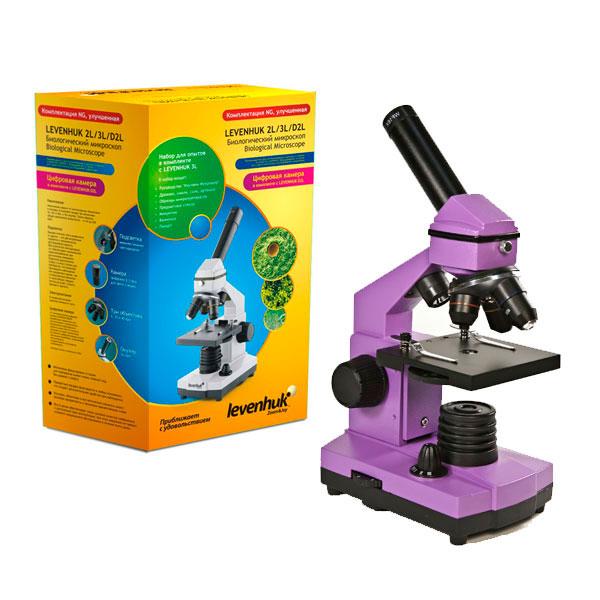 купить Микроскоп LEVENHUK Rainbow 2L NG Amethyst (аметист) (64-640x)