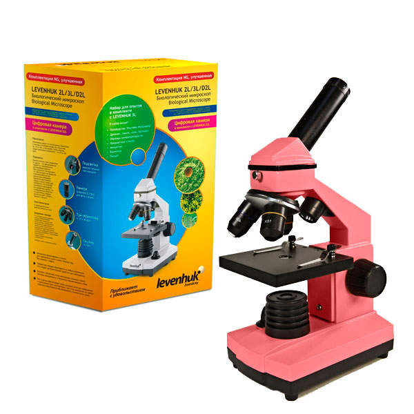 купить Микроскоп LEVENHUK Rainbow 2L NG Rose (роза) (64-640x)