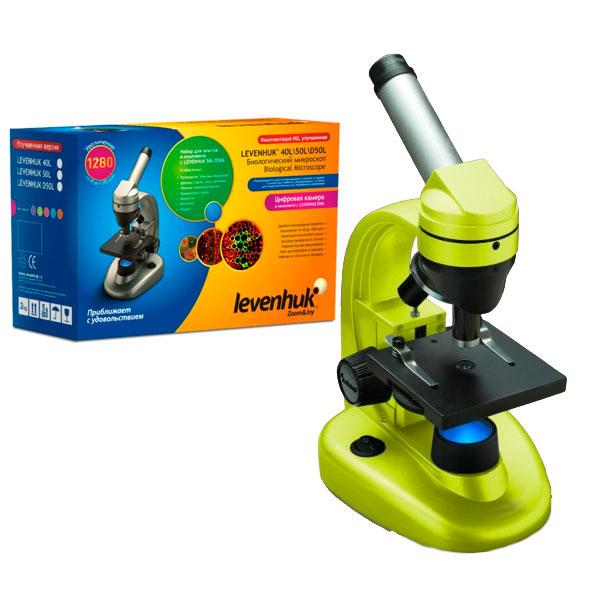 купить Микроскоп LEVENHUK Rainbow 50L NG (лайм) (40-1280x)