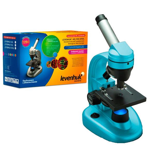 купить Микроскоп LEVENHUK Rainbow 50L NG (лазурь) (40-1280x)