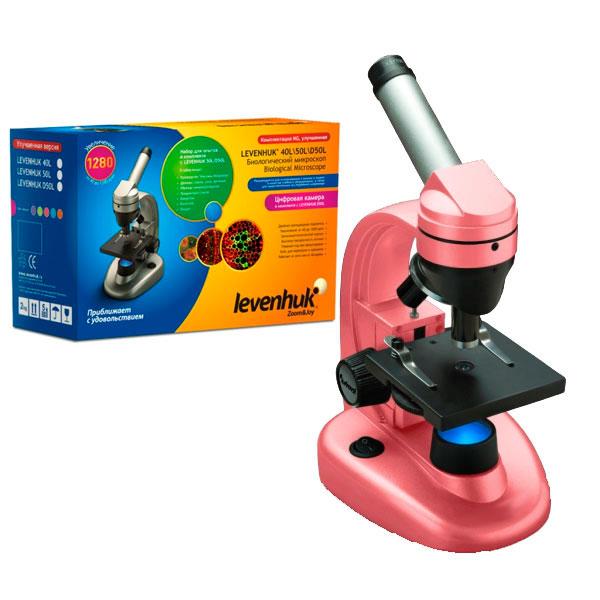 купить Микроскоп LEVENHUK Rainbow 50L NG (роза) (40-1280x)