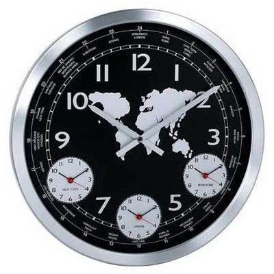 купить Настенные часы KONUS Terrano с металлическим корпусом (черные)