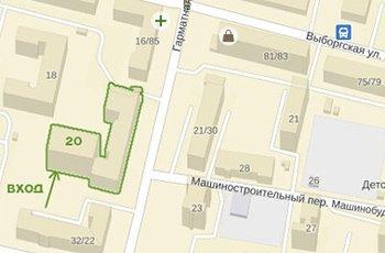 ул. Гарматная 20, офис 185 на карте Киева