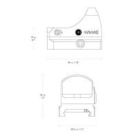 HAWKE Micro Reflex Dot 3 MOA WP DC (Weaver)  Коллиматорный прицел по лучшей цене