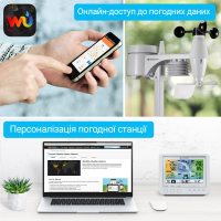 BRESSER Weather Center Wi-Fi 5-in-1 Profi Sensor (White/Black) Метеостанция