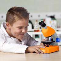 BRESSER Junior 40x-640x Orange (Base) Детский микроскоп