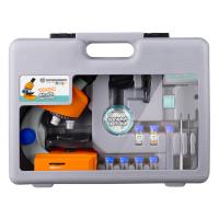 BRESSER Junior 40x-640x Orange (с кейсом) Детский микроскоп с гарантией