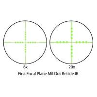 BARSKA Tactical 6-20x50 FFP (IR Mil-Dot) + Rings Оптический прицел с гарантией