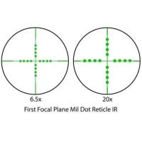 BARSKA Tactical 6.5-20x40 FFP (IR Mil-Dot) + Rings Оптический прицел с гарантией