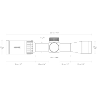 HAWKE Panorama 2-7x32 (10x 1/2 Mil Dot IR) Оптический прицел с гарантией