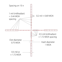 HAWKE Panorama 6-18x50 AO (10x 1/2 Mil Dot IR) Оптический прицел