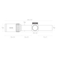 HAWKE Vantage 30 WA 1-4x24 (L4A IR Dot) Оптический прицел
