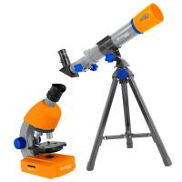 Детский микроскоп BRESSER Junior 40x-640x + Телескоп 40/400